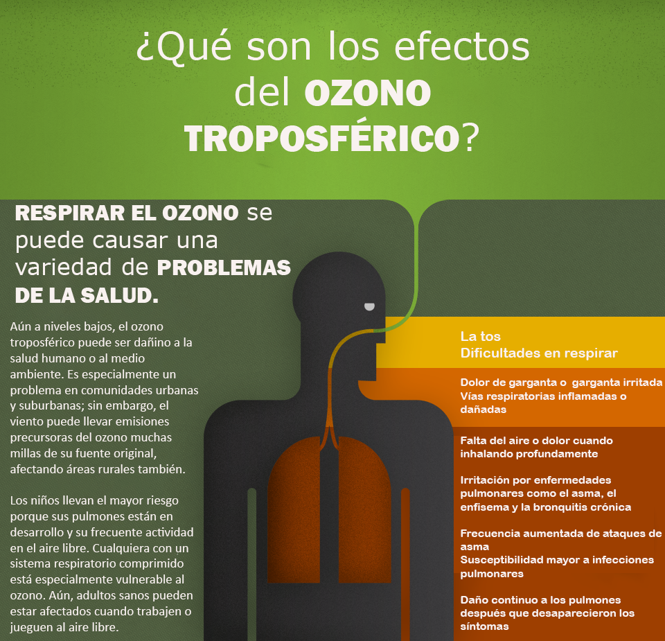 Ozone Health Effects Spanish